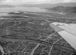Aerial view of central Hiroshima, Japan a year after the bomb went off, 20 Jul 1946