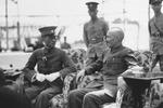Chiang Kaishek and General Long Yun of Yunnan Provincial Government in Nanjing, China, 27 Jun 1936