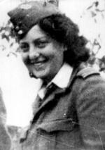 Hannah Szenes in British uniform, Yugoslavia, mid-1944