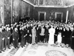 Pope Pius XII, Lemuel Shepherd, and others, Apr 1952