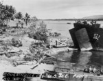 LST unloading supplies, Bougainville, Solomon Islands, 1943-1944