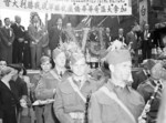 Victory celebration in Vancouver, British Columbia, Canada, Sep 1945