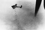 A Dornier Do-17 bomber dropping a string of bombs on London, England, United Kingdom, 20 Sep 1940