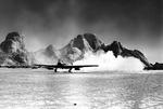 British Royal Air Force Vickers Wellesley light bomber kicking up a dust cloud during a take off from an East African airstrip, 15 May 1941.