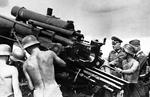 Colonel General Ernst Busch inspecting an 88mm anti-aircraft gun position, Germany, 3 Sep 1941.