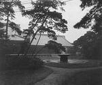 View on the grounds of the Imperial Palace, Tokyo, Japan, late 1800s
