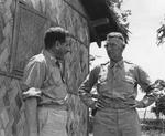 Lieutenant General Joseph Stilwell speaking with Colonel I. S. Ravdin of US Army 20th General Hospital, Assam, India, 15 Jul 1944