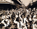 Victory celebration, Waikiki, Oahu, US Territory of Hawaii, 15 Aug 1945, photo 4 of 4
