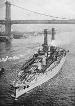 Arizona in the East River, New York City, circa mid-1916. Photo 2 of 2