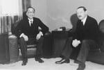 Chinese Foreign Minister Wang Chonghui (Wang Chung-hui) with German Ambassador to China Oskar Trautmann, Nanjing, China, 10 Mar 1937