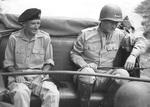 Bernard Montgomery and George Patton near Palermo, Sicily, Italy, 28 Jul 1943