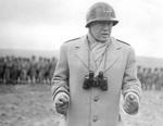 George Patton making a speech for US troops, Armagh, Northern Ireland, United Kingdom, spring 1944