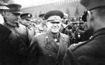 Georgy Zhukov at the Red Square victory parade, Moscow, Russia, 24 Jun 1945; note Chinese attaché Guo Dequan in background