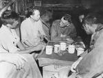 Colonel Joseph Stilwell, Jr., Lieutenant General Hu Su, Lieutenant General Joseph Stilwell, and Colonel Yang Yee in Myitkyina, Burma, 18 Jul 1944