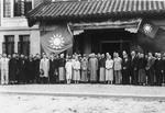 Song Meiling and Chiang Kaishek at the grand opening of Overseas Chinese Hostel, Nanjing, China, 11 Feb 1937