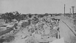 Damaged civilian homes, Jinan, Shandong Province, China, circa 4 May 1928, photo 4 of 8