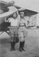 Hazel Ying Lee with friend, circa 1930s