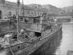 Scuttled minesweeper, Naples, Italy, Oct 1943