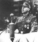 Léon Degrelle speaking, Brussels, Belgium, 1944