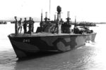 PT-245, a Higgins 78-footer of Motor Torpedo Boat Squadron 20 (MTBRon 20), southwest Pacific, circa 1945.