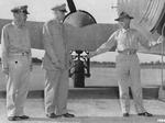 Major General Daniel Sultan, Major General Patrick Hurley, and General Joseph Stilwell boarding an aircraft at New Delhi, India for Chongqing, China, Sep 1944