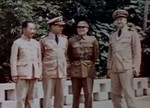 Dai Li, Milton Miles, and two other SACO officers, Chongqing, China, 1944