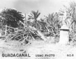 Destroyed building, Guadalcanal, late 1942