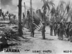 US flag on Tarawa, Gilbert Islands, late Nov 1943