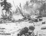US Marines fighting on Betio, Tarawa, Gilbert Islands, 20-23 Nov 1943
