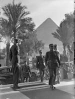 Chinese officers at the Mena House Hotel, Cairo, Egypt, Nov 1943