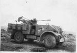 A captured Canadian Ford-built CMP truck converted to carry a 2cm Flak 30 cannon in the German Afrika Korps, North Africa, 1943.