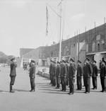 Chinese cadets in a British naval academy being reviewed, 1943-1945