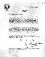 False letter from Admiral Louis Mountbatten to Admiral of the Fleet Andrew Cunningham created along with other fictitious letters as part of Operation Mincemeat, Apr 1943.