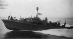 PT-370 of MTB Squadron 18 on patrol in the Philippines, circa Nov 1944. PT-370 was a 70-foot Canadian boat and only four such boats were built. All four were outfitted as Elco 80s despite being 10 feet shorter.