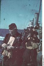 Horst Grund on the Black Sea off Romania, circa 1941