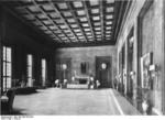 "Known as ""The study of the Führer,"" this was Hitler's office in the Reich Chancellery that he rarely used, Berlin, Germany, circa 1940. Photo 2 of 2."