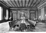 Cabinet meeting room, New Reich Chancellery, Berlin, Germany, circa 1939