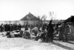Jews turning over personal belongings, Lubny, Ukraine, 16 Oct 1941