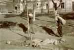 Dead bodies along a street in Kiev, Ukraine, 1 Oct 1941
