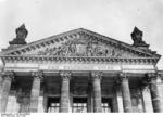 Inscript above the main entrance of the Reichstag building, Berlin, Germany, 1932