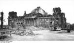 Ruined Reichstag building, Berlin, Germany, Jul 1946