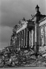 Ruined Reichstag building, Berlin, Germany, 1947