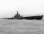 Submarine USS Sailfish off Mare Island Naval Shipyard, Vallejo, California, United States, 13 Apr 1943.