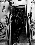 US Navy photo of the diesel engines aboard the captured U-505, 14 Jun 1944