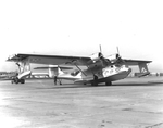 PBY-5 Catalina patrol plane of Patrol Squadron VP-5 at Norfolk, Virginia, United States, Mar 1941. Note the National Insignia on the nose which at this time were only put on the sides of planes in the Neutrality Patrols