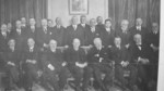 Members of the League of Nations commission, Paris, France, Feb-Apr 1919, photo 2 of 2; note Woodrow Wilson and V. K.