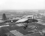 TDN-1 attack drone on its first (piloted) test flight from Traverse City, Michigan, United States, 19 May 1943. The pilot was Navy Lieutenant C.C. Corley. Photo 2 of 2.