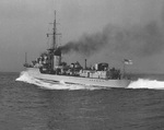 HMS Kelly during sea trials, 1939