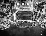 Aerial view of the coaling facilities in the entrance channel of Pearl Harbor, Hawaii, 16 Oct 1941. The coaling station was the US Navy's first use of Pearl Harbor beginning in 1903.