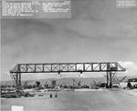 Gantry Crane spanning the Pearl Harbor drydocks, 20 Feb 1945 (the crane was built in 1940).